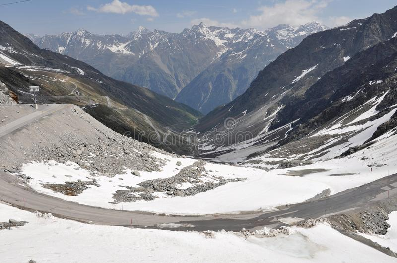 Download Oetztal Valley With Alpine Road, Austria Stock Photo - Image: 14877078