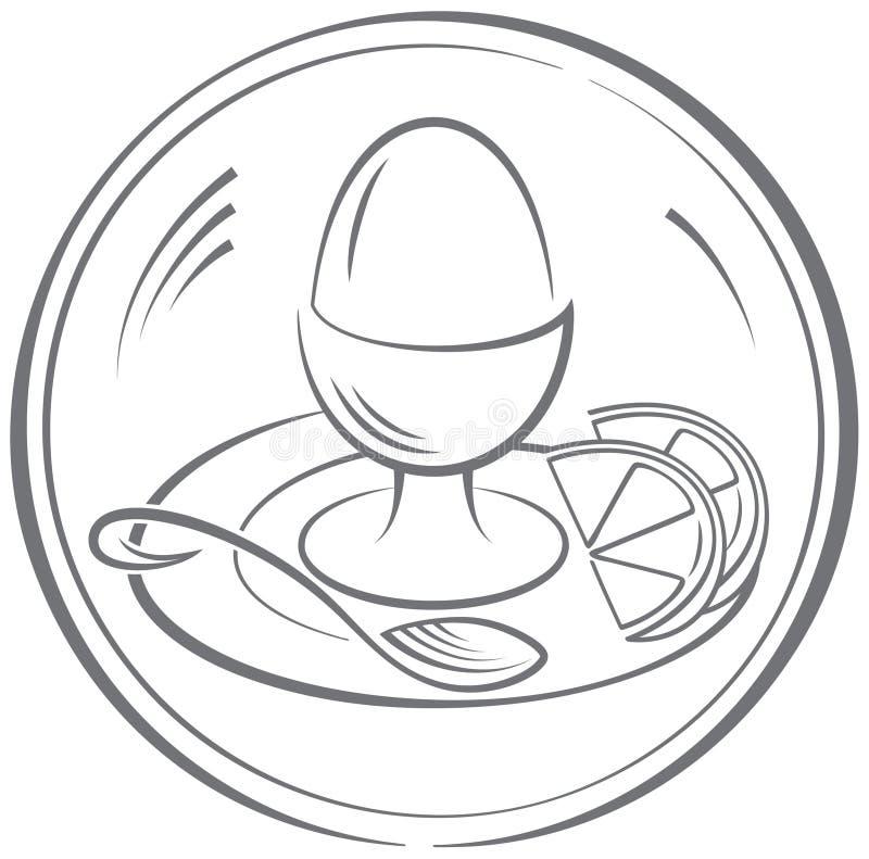 Oeuf illustration de vecteur