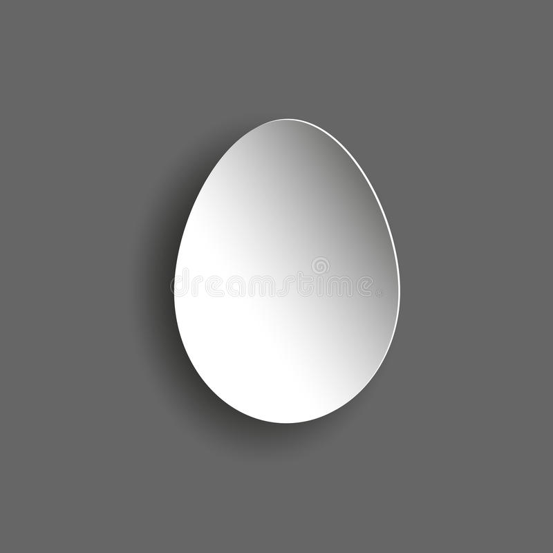 Oeuf abstrait gris illustration de vecteur