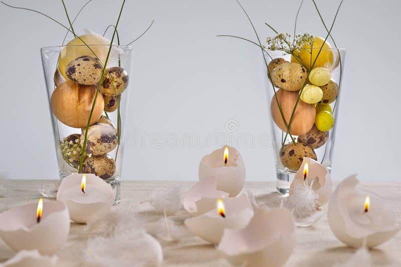 Oeuf-bougies de Pâques photographie stock