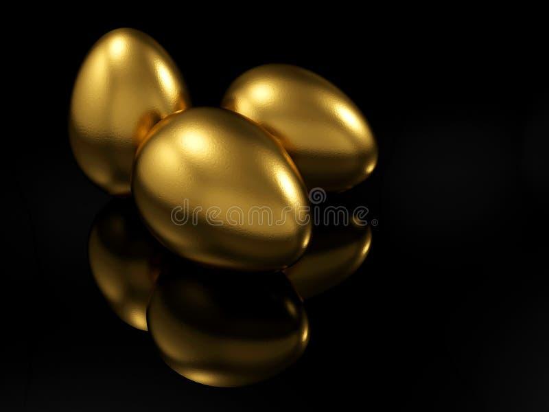 Oeuf d'or illustration libre de droits