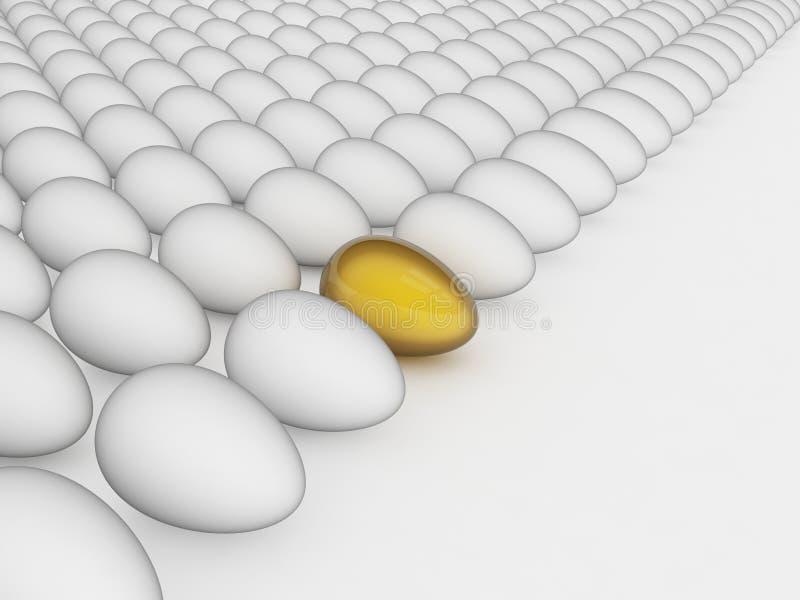 Oeuf d'or, concept de Pâques illustration libre de droits