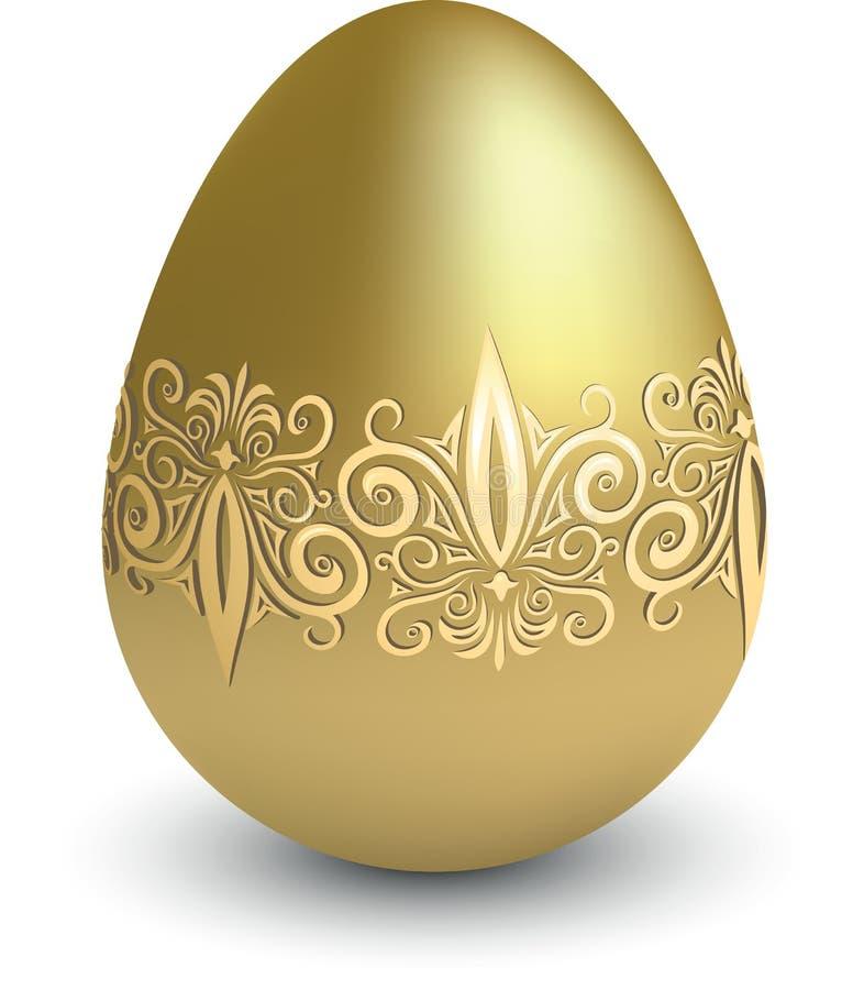 Oeuf d'or de Pâques illustration libre de droits