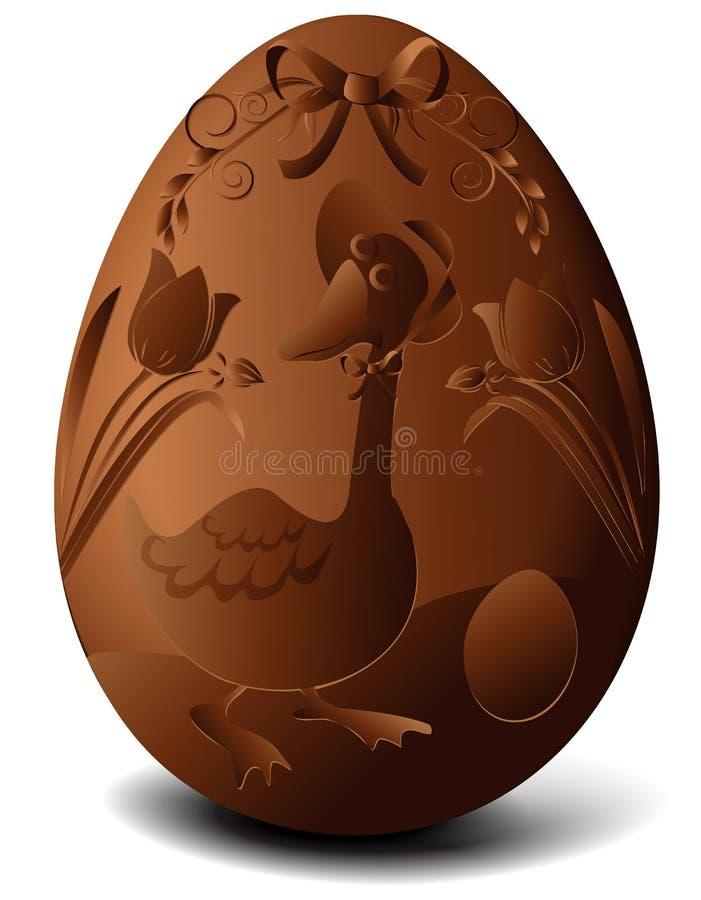 Oeuf de chocolat de Pâques illustration de vecteur