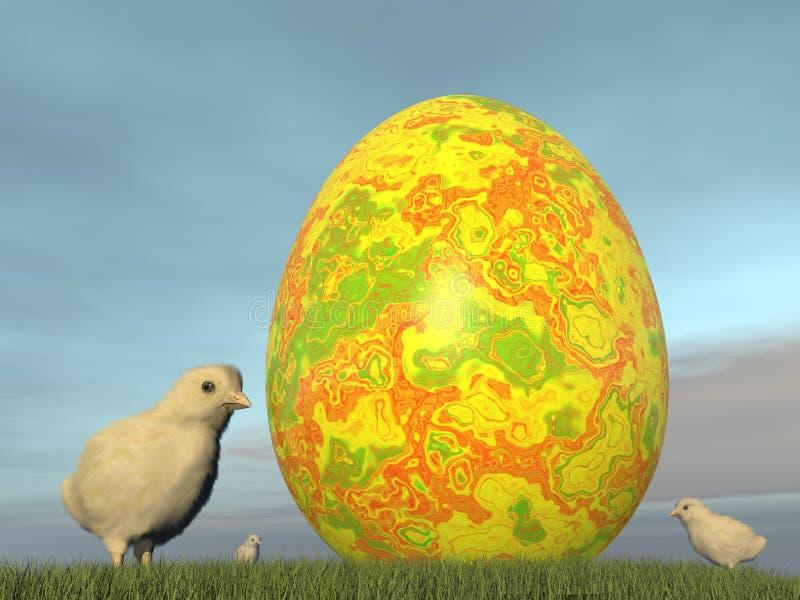 Oeuf de pâques - 3D rendent illustration libre de droits