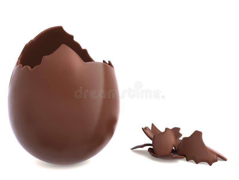 Oeuf de pâques de chocolat illustration stock