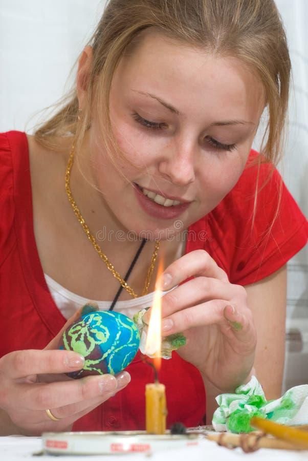 Oeuf de pâques de peinture photos libres de droits