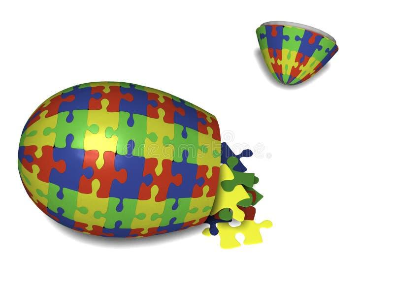 Oeuf de pâques de puzzle illustration de vecteur