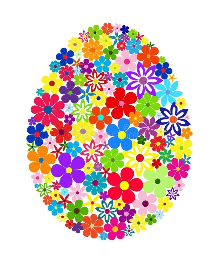 Oeuf de pâques floral de mosaïque illustration libre de droits