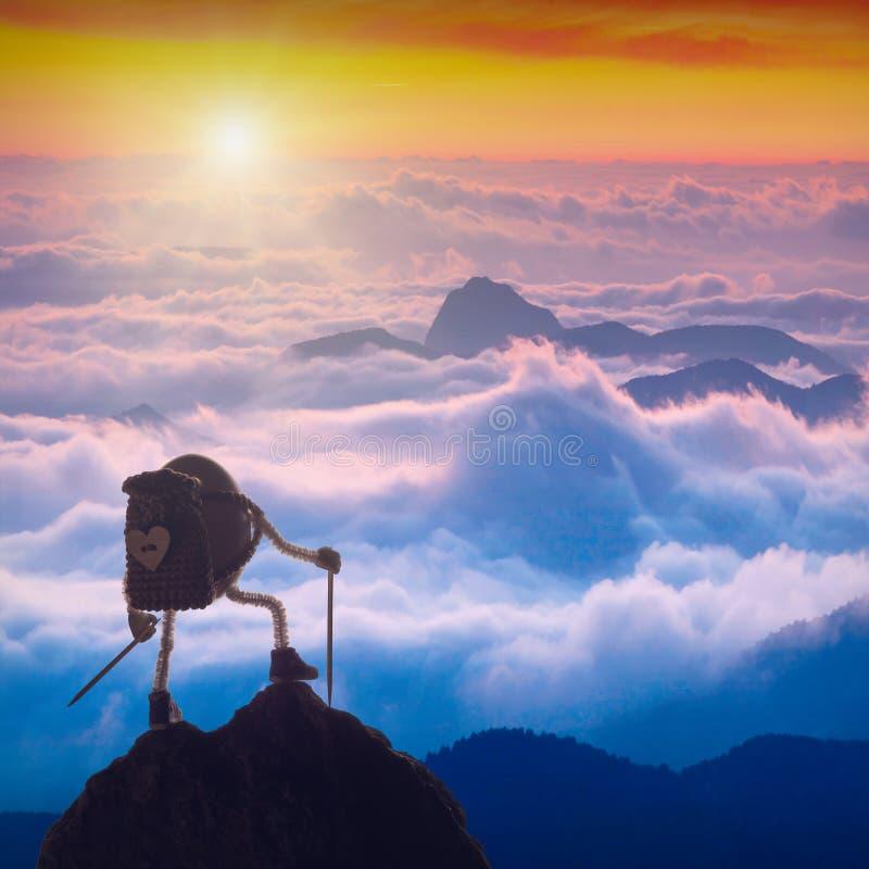 Oeuf de pâques de grimpeur photographie stock