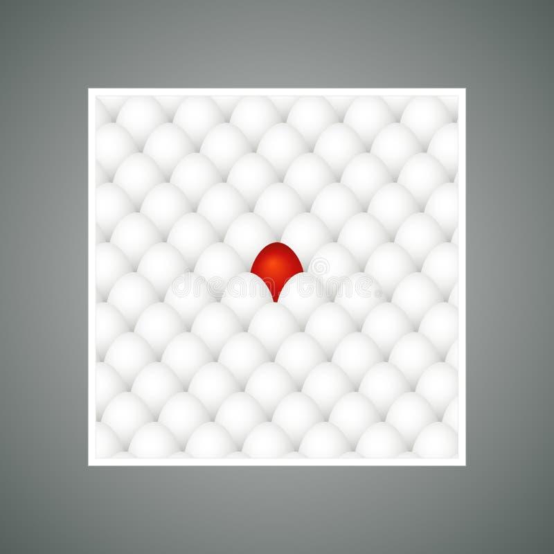 Oeuf de pâques rouge, vecteur illustration libre de droits