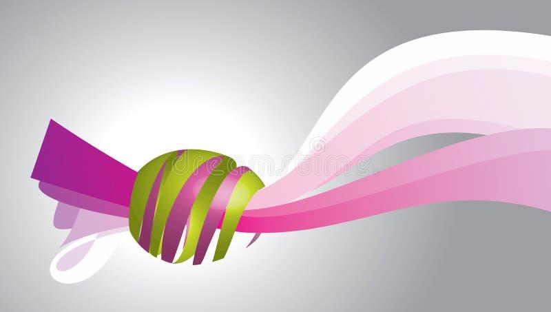 L'oeuf sur le ruban illustration libre de droits