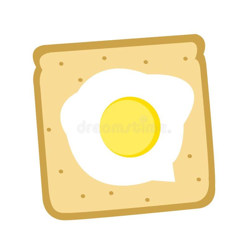 Oeuf de pain de petit déjeuner de Yammy photographie stock libre de droits