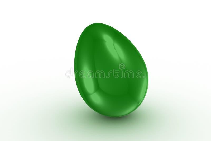 Oeuf vert simple illustration de vecteur