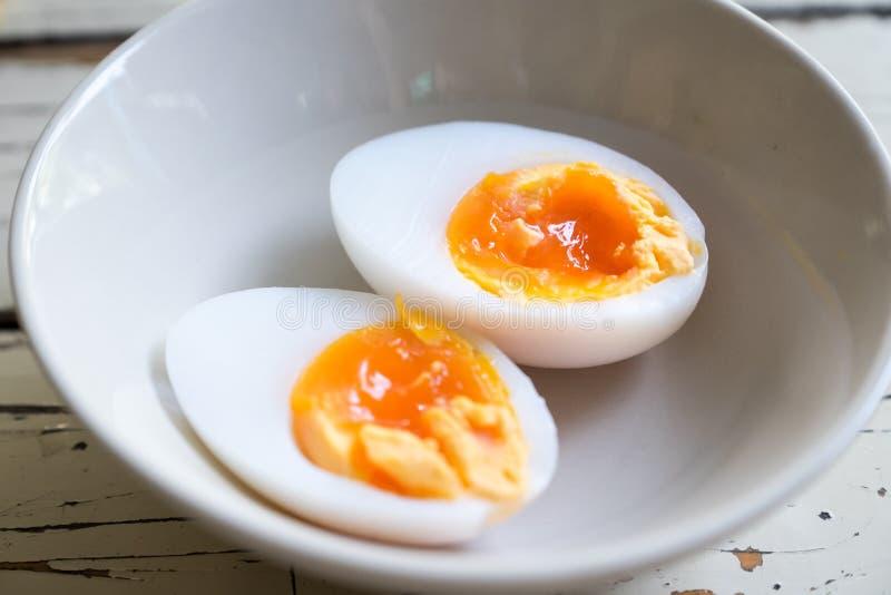 Oeufs bouillis de canard photo stock
