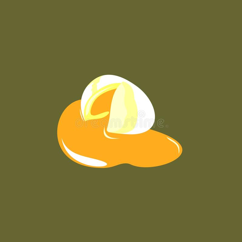 Oeufs bouillis illustration stock