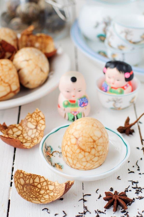 Oeufs chinois de thé images stock