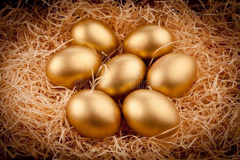 Oeufs d'or photo libre de droits