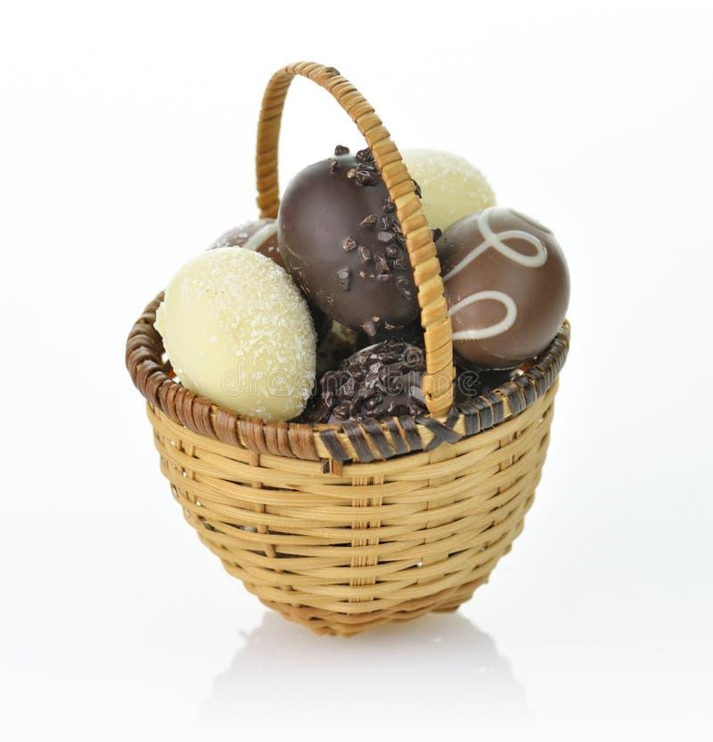 Oeufs de chocolat images libres de droits