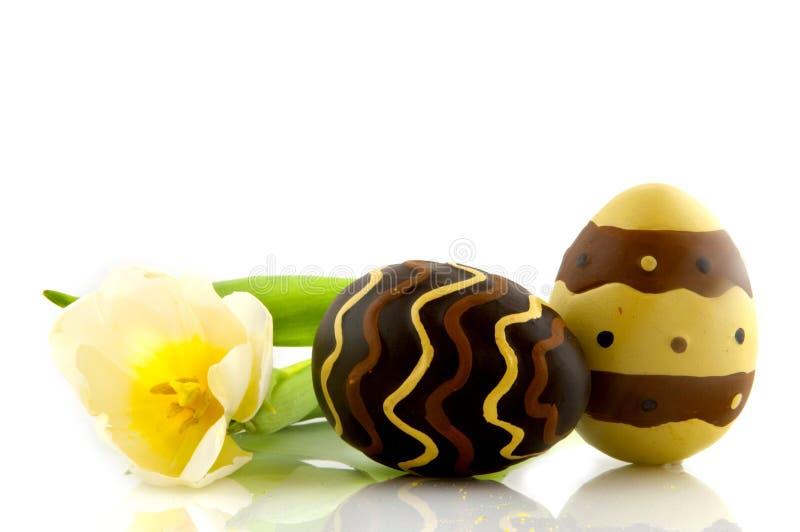 Download Oeufs de chocolat photo stock. Image du fleurs, sucrerie - 8659928