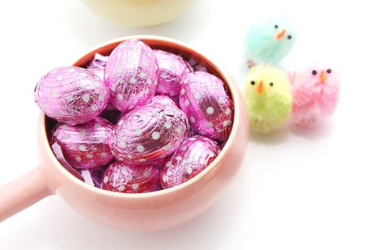 Oeufs de chocolat de Pâques photo libre de droits