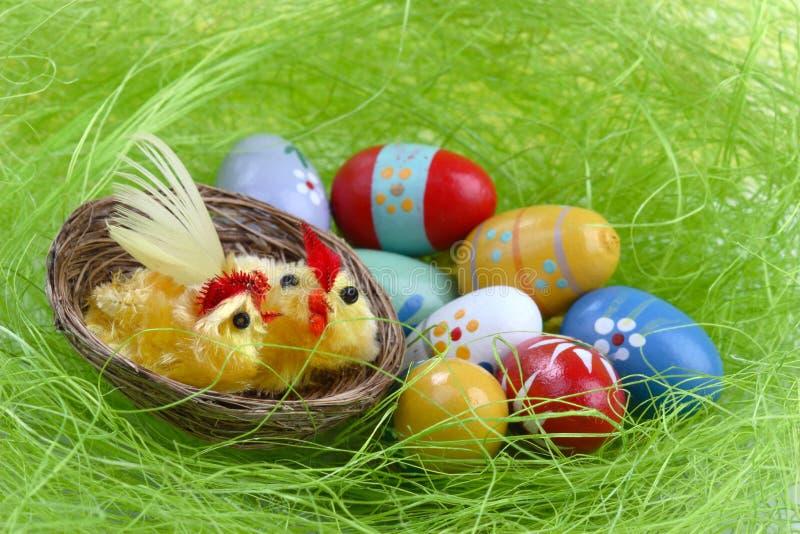Oeufs de décoration de Pâques image libre de droits