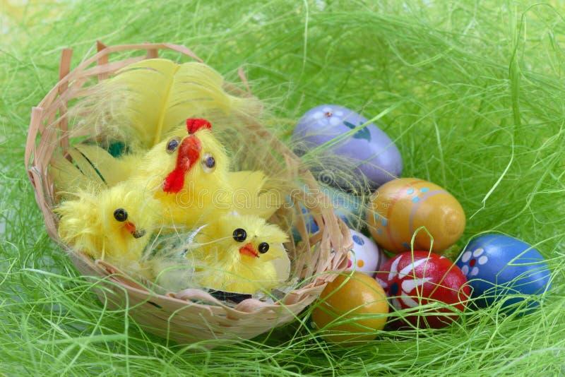 Oeufs de décoration de Pâques photographie stock