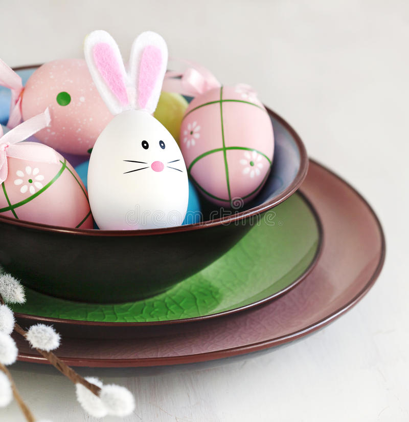 Oeufs de décoration de Pâques images stock