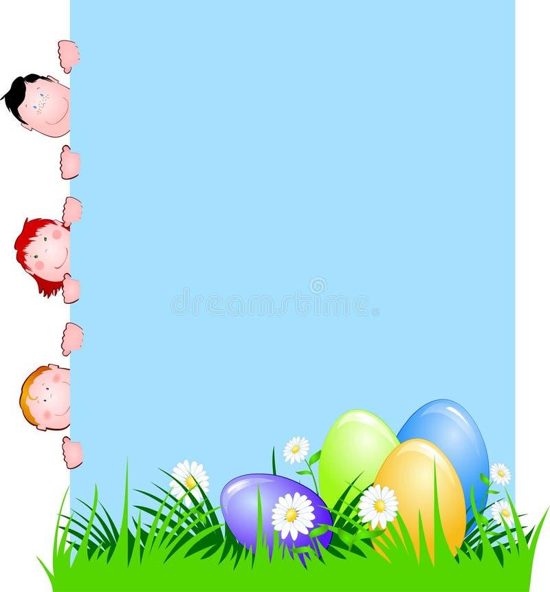 Oeufs de pâques illustration de vecteur
