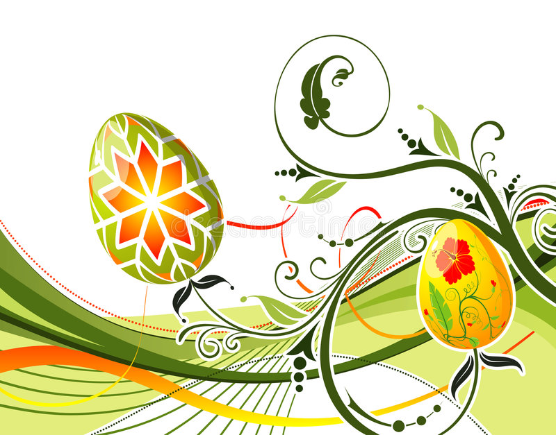 Oeufs de pâques illustration stock