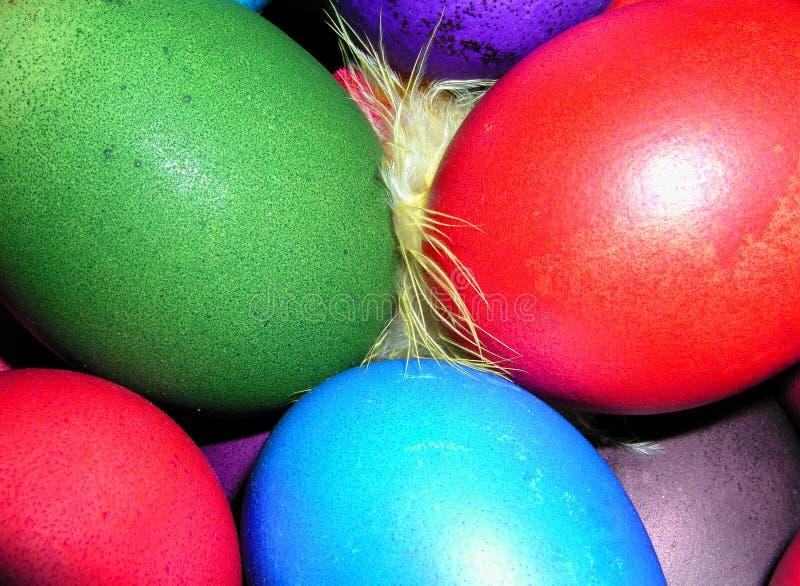Download Oeufs de pâques colorés image stock. Image du occasion, poli - 89131