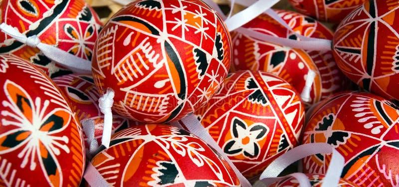 Oeufs de pâques décoratifs photo libre de droits