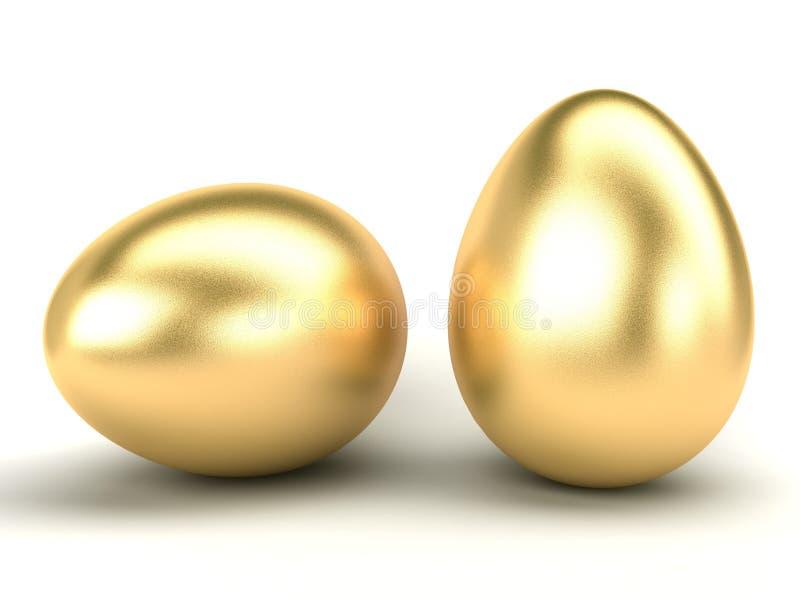 Oeufs de pâques d'or illustration de vecteur