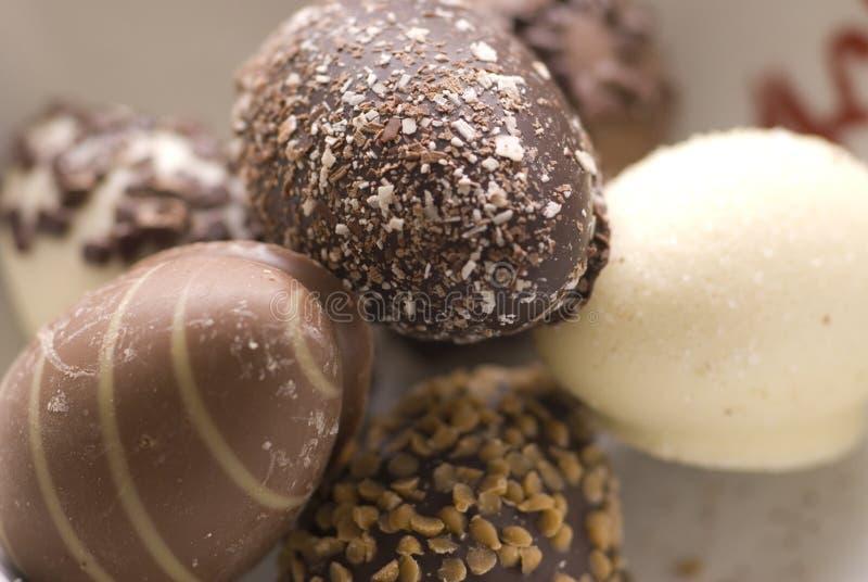 Oeufs de pâques de chocolat photo stock