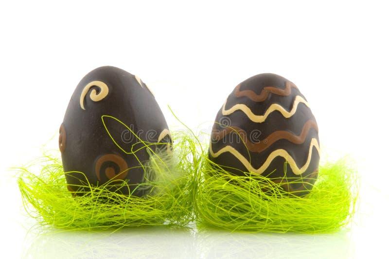 Download Oeufs De Pâques De Chocolat Image stock - Image du isolement, brun: 8659753