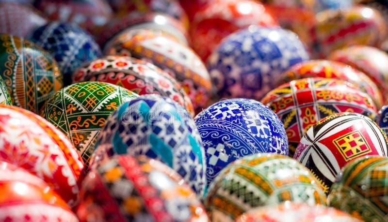 Oeufs de pâques Handcrafted photo stock
