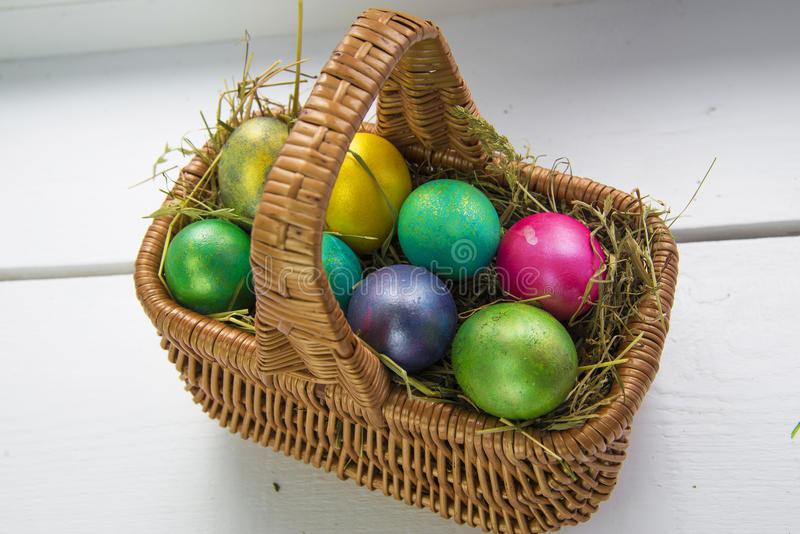 Oeufs de pâques multicolores photo libre de droits