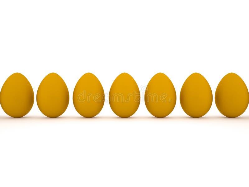 Oeufs de pâques oranges. illustration stock