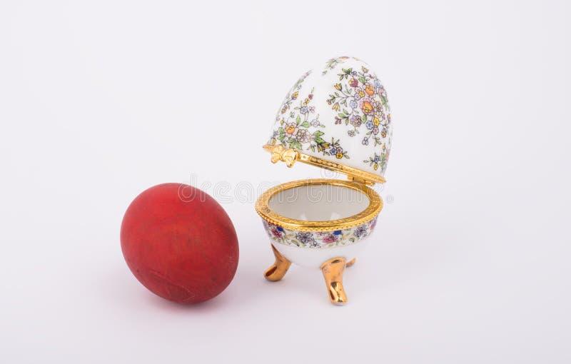 Oeufs en céramique décoratifs de Faberge images libres de droits