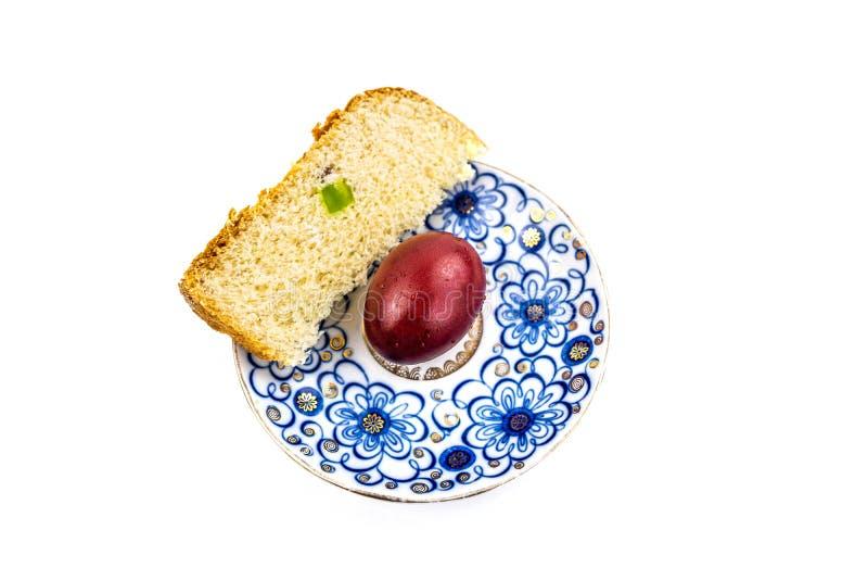 OEufs et gâteaux peints de Noël, encore de la vie avec différentes assiettes image libre de droits