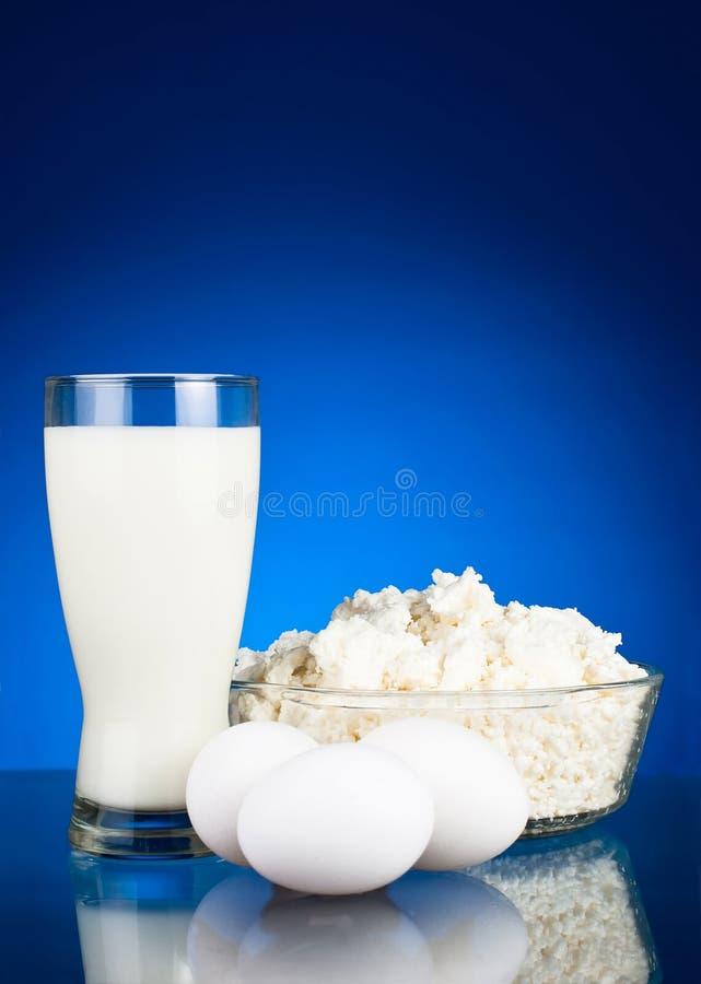 Oeufs frais et produits laitiers photographie stock libre de droits