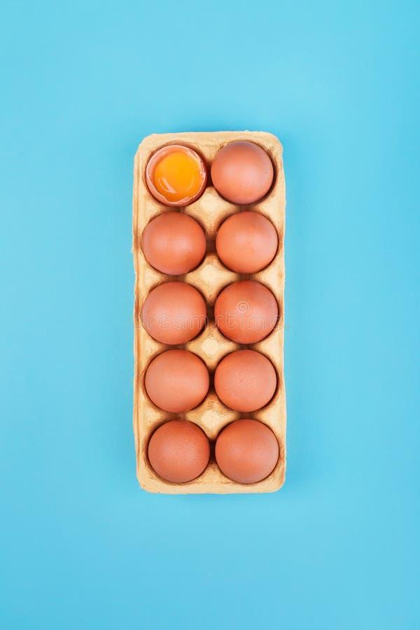 Oeufs organiques naturels de poulet photos libres de droits