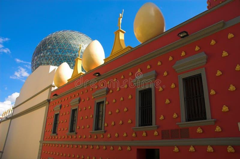 Oeufs sur le théâtre du Dali photo libre de droits