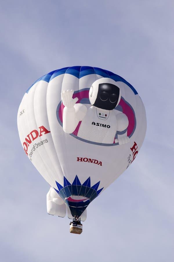 oex Хонда празднества замка d воздушного шара asimo стоковые фотографии rf