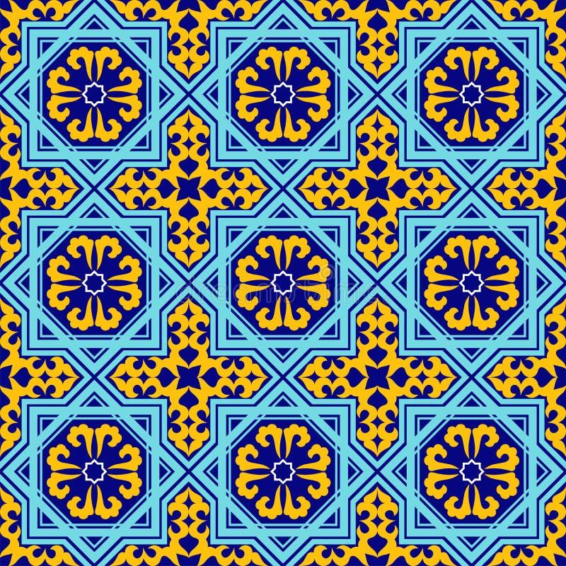 Oezbekistaans ornament vector illustratie