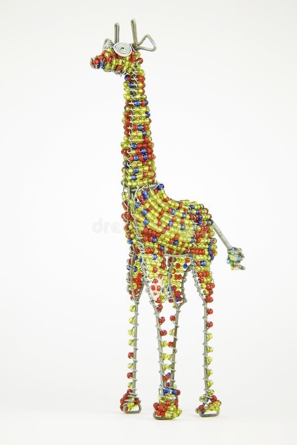 Ofício animal africano prendido e perlado de um girafa isolado na ilustração stock