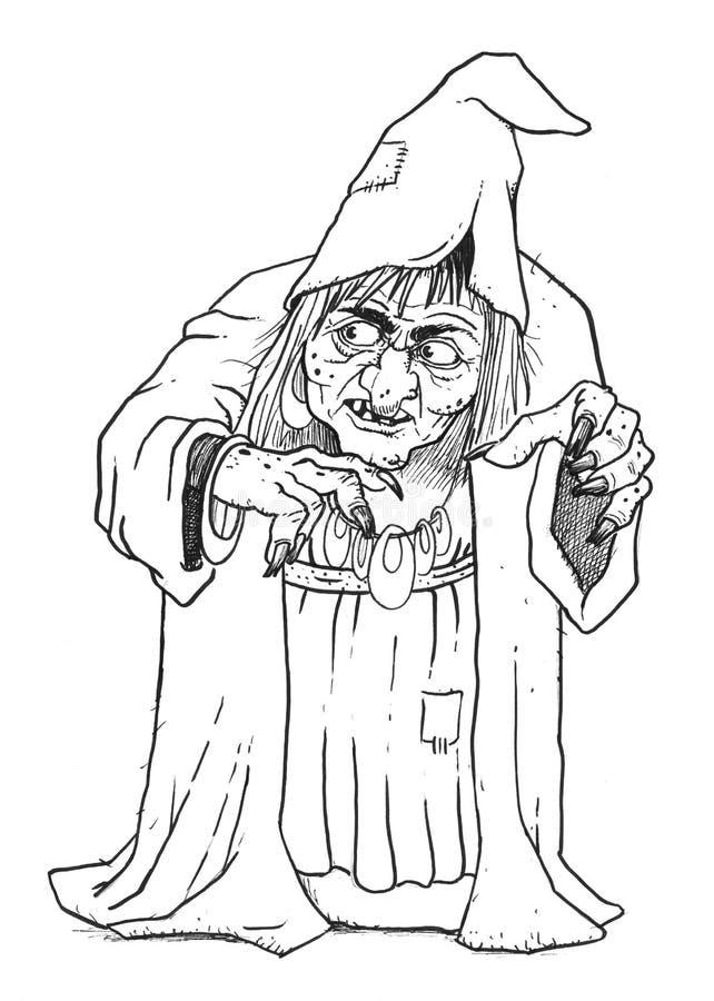 Ofício da bruxa ilustração stock