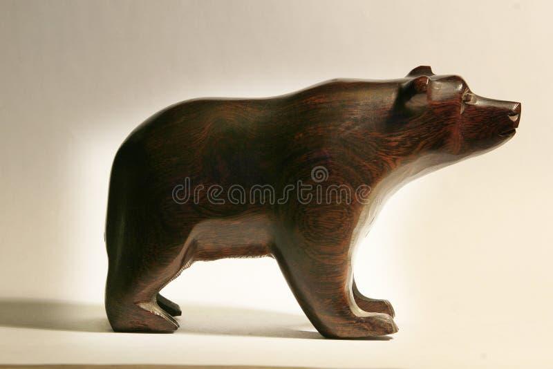 Ofício de madeira do urso imagem de stock royalty free