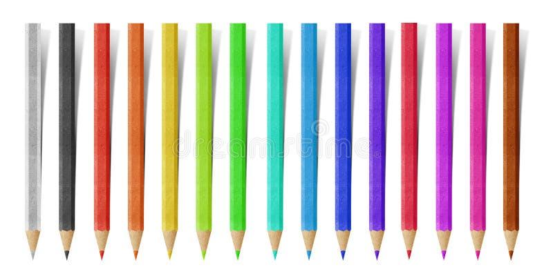 Ofício de papel do lápis fotos de stock royalty free