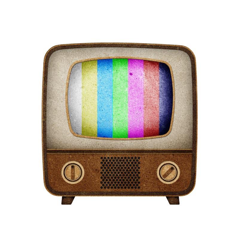 Ofício de papel recicl ícone da televisão (tevê). fotos de stock